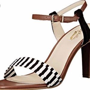 Seychelle 'prime' ankle strap and stripe sandals